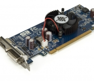 VIA eH1 DX10 Graphics Card - Angle w/Fan